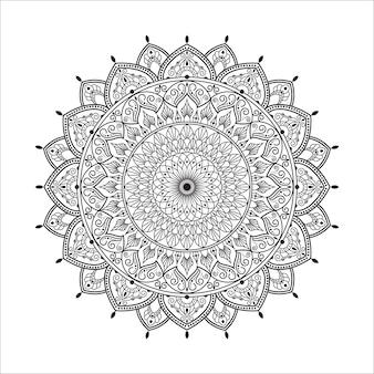 Mandala auf schwarzweiss