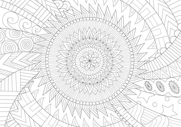 Mandala bewegung strichzeichnungen