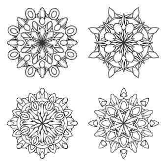 Mandala blume abbildung