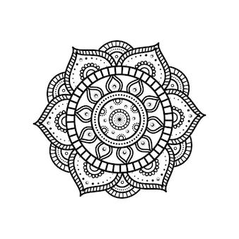Mandala-blume mit floralen details
