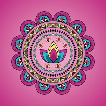 Mandala blumendekoration ethnischen