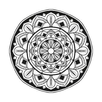 Mandala-blumenillustrations-designvektor