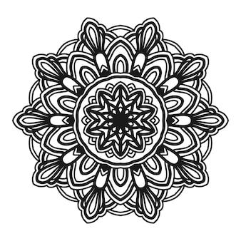Mandala-blumenillustrations-vektordesign