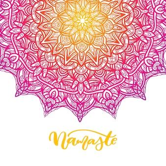 Mandala-blumenvektorzeichnung