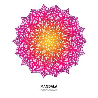 Mandala-blumenzeichnung