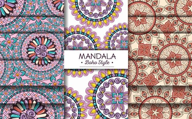 Mandala boho stil flyer