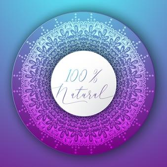 Mandala circle design mit text
