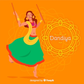 Mandala dandiya hintergrund