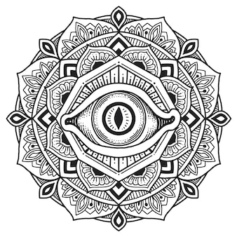 Mandala des dritten auges