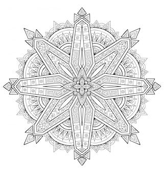Mandala-design dekoration. malbuch erwachsener