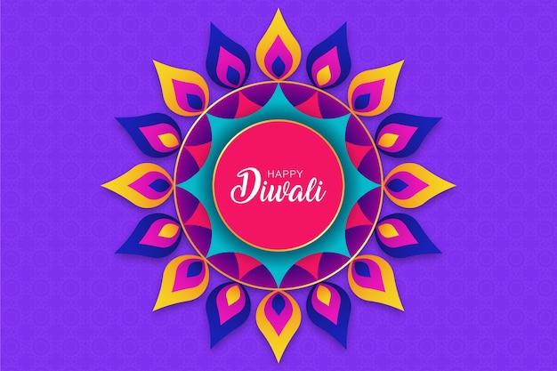 Mandala design, happy diwali rangoli hintergrund