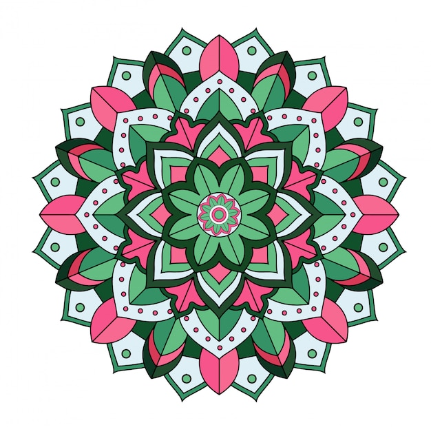 Mandala-design isoliert