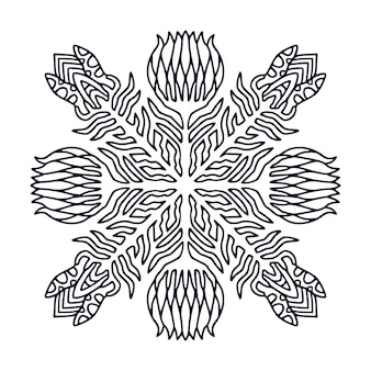 Mandala design. malbuchseite