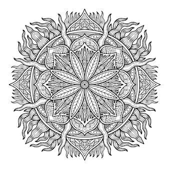 Mandala design zum ausmalen