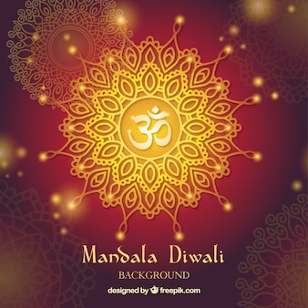 Mandala diwali hintergrund