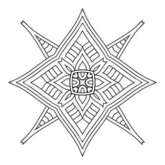 Mandala. einfaches lineares, dekoratives element.