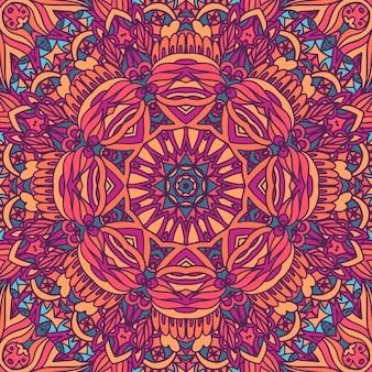 Mandala ethnisches nahtloses muster.
