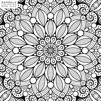 Mandala färbung illustration