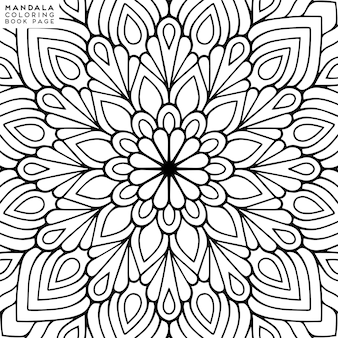 Mandala färbung illustration