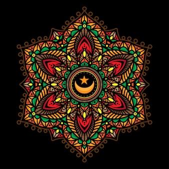 Mandala farbtattoos
