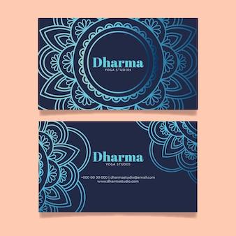 Mandala firmenvisitenkarte
