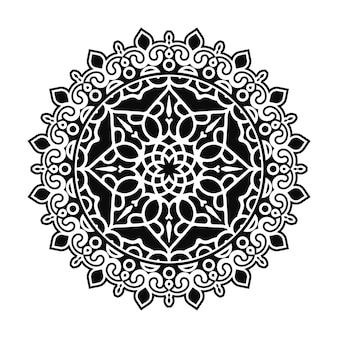Mandala flache hintergrund-design-vorlage