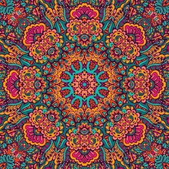 Mandala gekritzel fantasie blume dekoriert hintergrund