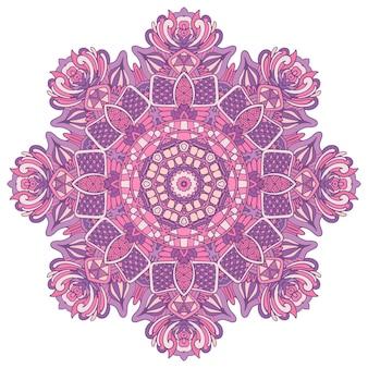 Mandala gekritzellinien verziert hintergrund. abstraktes geometrisches gekacheltes boho ethnisches nahtloses musterornament.