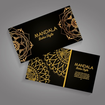 Mandala gold boho stil flyer