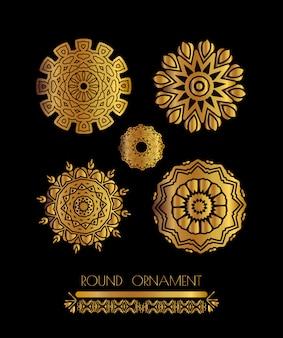 Mandala goldene kunst