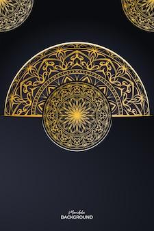 Mandala goldener hintergrund premium-design