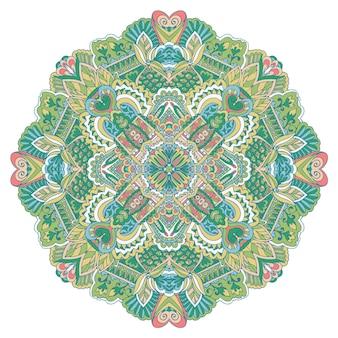 Mandala hand gezeichneter hintergrund. orientalische, arabische, indische, abstrakte doodle- und blumenmotive.