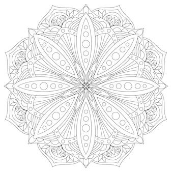 Mandala. hand gezeichnetes orientalisches dekoratives element. ethnisches gestaltungselement.
