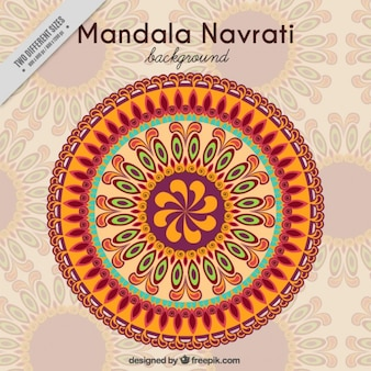 Mandala hintergrund der navratri
