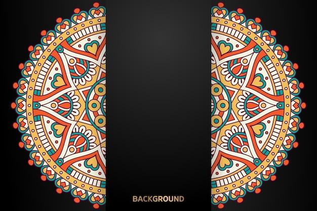 Mandala hintergrund des ethnischen motivs
