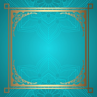Mandala hintergrund mit dekorativem goldrand
