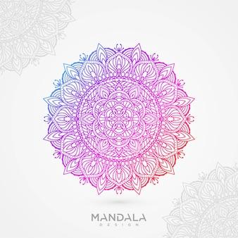 Mandala hintergrund mit farbverlauf