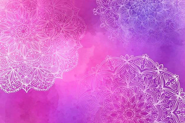 Mandala-hintergrund mit farbverlauf