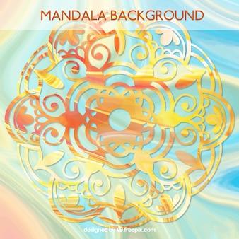 Mandala-hintergrund mit goldenen effekt