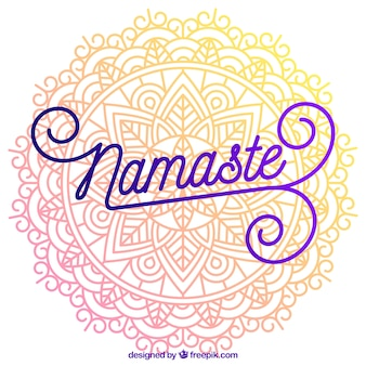 Mandala hintergrund mit schönen namaste