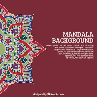 Mandala hintergrund und template