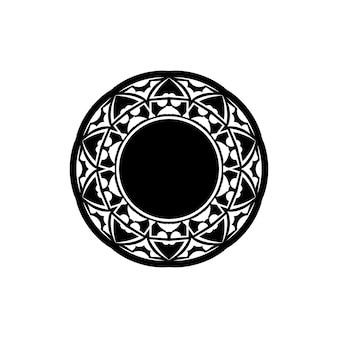 Mandala, hochdetaillierte zentangle-inspirierte illustration, schwarz und weiß
