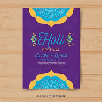 Mandala holi festival-party-plakat