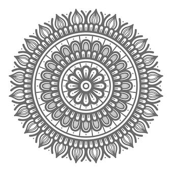 Mandala-illustration für abstraktes und dekoratives konzept im kreisförmigen stil