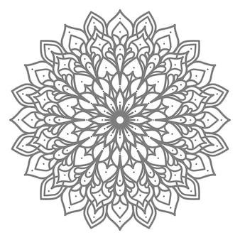 Mandala illustration für dekoration mit ethnisch orientalischem stil