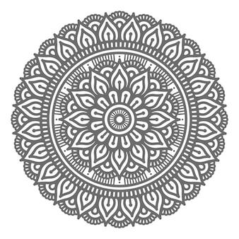 Mandala-illustration im kreisförmigen stil für abstraktes und dekoratives konzept