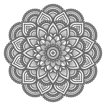 Mandala-illustration mit kreisstil für abstrakten hintergrund