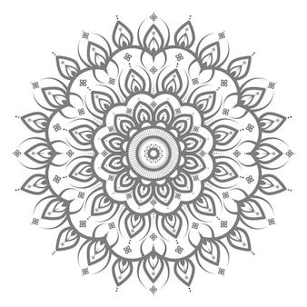 Mandala-illustration mit kreisstil für abstrakten und dekorativen hintergrund