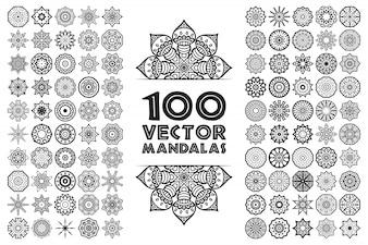 Mandala im ethnischen Stil