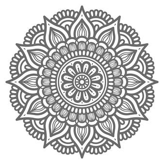 Mandala im kreisförmigen stil
